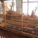 廃材で作る豪華客船の模型展